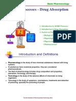 ADME Processes - Drug Absorption