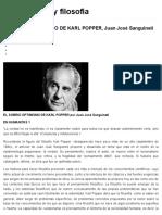 El Sobrio Optimismo de Karl Popper, Juan José Sanguineti _ Filosofía