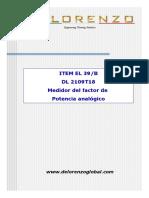 EL 39B (DL 2109T18-Medidor Factor Potencia Analógico)