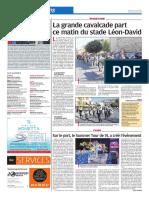 La grande cavalcade part ce matin du stade Léon-David (15/08/18)