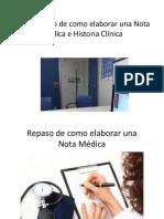 Como Elaborar Nota Médica e Historia clínica