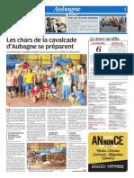 Les chars de la cavalcade d'Aubagne se préparent (16/08/18)