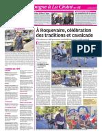 A Roquevaire, célébration des traditions et cavalcade (16/08/18)