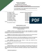 Municipal Resolution Sample