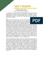 Azar y Rigor El Juego Combinatorio de Italo Calvino