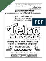 QE Determinant & Matrices SOLUTION FOR DROPPER.pdf