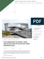 Philarmonie de Paris _ Une Architecture à Écouter Sans Modération - Architectes-Paris