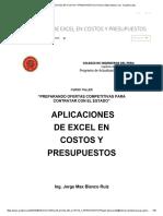 APLICACIONES DE EXCEL EN COSTOS Y PRESUPUESTOS _ Homero Edwin Mejia Cruz - Academia.pdf
