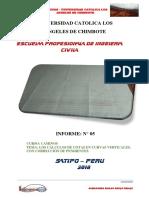 Informe de Caminos 004 y 005 Perfil Longitudinal y Los Cálculos de Cotas en Curvas Verticales, Con Corrección de Pendientes