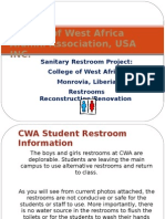 CWA RESTROOM SANITARY PROJECT