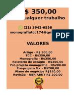 O valor é  R$ 349,99 POR qualquer  TCC OU MONOGRAFIA WHATSAPP (21)974111465    (61)--.pdf