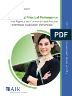Measuring Principal Performance