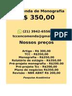 Por somente R$ 349,99 POR qualquer  TCC OU MONOGRAFIA WHATSAPP (21)974111465  (3)-- (cópia)