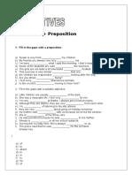 Adjective Preposition Intermediate