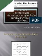 Técnicas de modulación en señales digitales