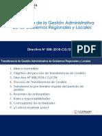 Presentacion Transferencia Gestion 2018