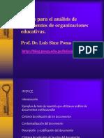 Pautas Para El Analisis de Documentos de Organizaciones