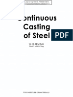 Continuous Casting of Steel-Institute of Materials, Minerals and Mining