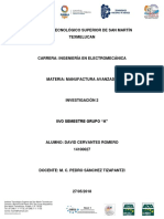 Investigación Acerca de Parámetros del diseño mecánico en Manufactura Avanzada
