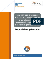 Cahier Des Charges Habilitation Dispositions Generales