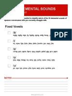 Spanish Sounds Checklist