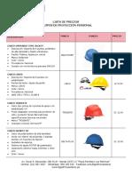 Lista de Precios Epps Proveedores Distribuidores (1) (1)