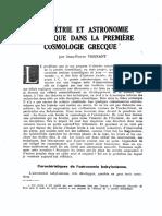 Vernant, Jean-Pierre - Geometrie et astronomie spherique dans la premiere cosmologie grecque.pdf