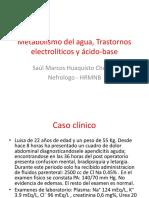 Trastornos Electrolíticos y Ácido-base