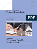 Unidad I Técnicas de Tasación - Cámara Inmobiliaria Argentina