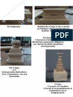 making mini stupa model