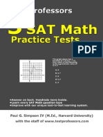 Free Printable SAT Math Test, From 5 SAT Math Practice Tests
