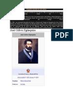 Biografía Resumida de José Gálvez