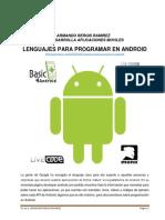 Lenguajes Para Programar en Android