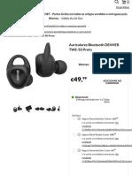 Auriculares Bluetooth DENVER TWE-50 Preto   Worten.pt
