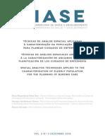 Técnicas de Análise Espacial Aplicadas à Caracterização da População Idosa para Planear Cuidados de Enfermagem