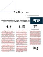 romeo and juliet conflicts graphic organizer