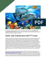 Daftar Judi Tembak Ikan OSG777 Gratis