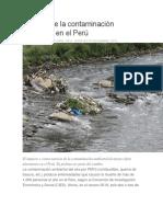 Impacto de La Contaminación Ambiental en El Perú