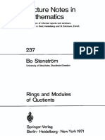 Bo T. Stenström - Rings and Modules of Quotients