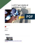Aumenta a 21 7 Porciento en El Peru