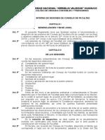 Reglamento de Consejo de Facultad