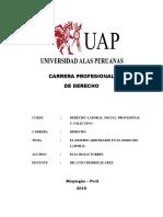 Monografia - Despido Arbitrario en El Derecho Laboral - Elsa Rojas Torres