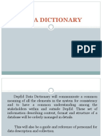 Jhs Data Dictionary