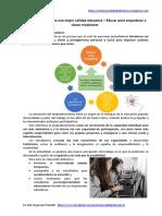 Perspectivas Para Una Mejor Calidad Educativa – 1. Educar Para Empoderar y Clases Modulares