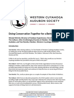 Doing Conservation Together for a Better World