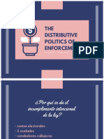 The distributive politics of enforcement Presentación