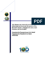 El Modelo de Atencion en Salud de Nicaragua