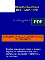 Obstetricia - Hemorragia de Segunda Mitad