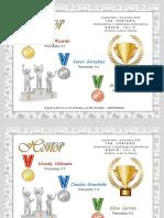 Cuadros de Honor Periodo 1