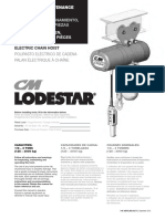 CM Classic Lodestar Manual September 2016 Industrial 83874 627-T SP